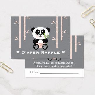 Tarjeta De Visita Boletos rosados de la rifa del pañal de la panda