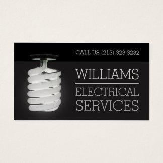 Tarjeta De Visita Bombilla de los servicios eléctricos del