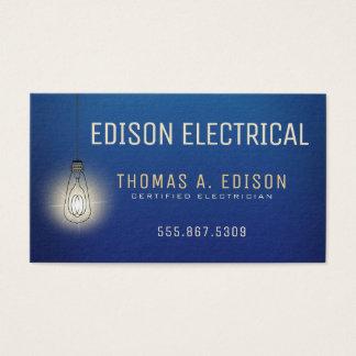 Tarjeta De Visita Bombilla eléctrica del electricista el |