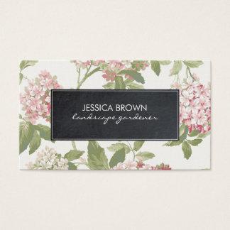 tarjeta de visita botánica floral del hydrangea