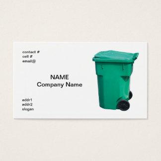 Tarjeta De Visita bote de basura verde claro