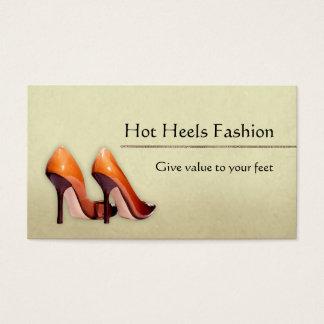 Tarjeta De Visita Boutique caliente de los zapatos