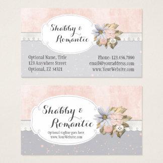 Tarjeta De Visita Boutique de costura floral rústico elegante