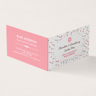 Tarjeta De Visita Brown rosado asperja la mezcla hecha en casa de la