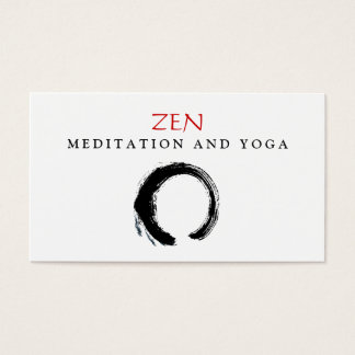 Tarjeta De Visita Budista 3 de la yoga y de la meditación de Enso
