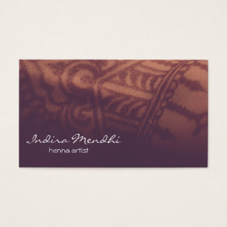 Tarjeta De Visita Budista espiritual Namecard de Mendhi de la alheña