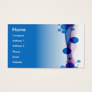 Tarjeta De Visita Burbujas azules