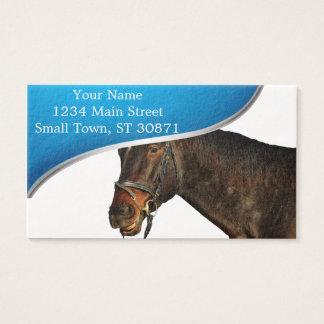 Tarjeta De Visita Caballo santa - caballo del navidad - Felices