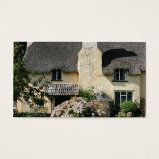 Tarjeta De Visita Cabaña cubierta con paja, Selworthy, Exmoor,