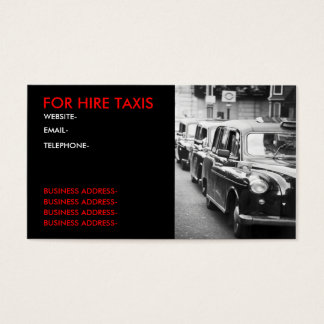 Tarjeta De Visita Cabbies de Londres
