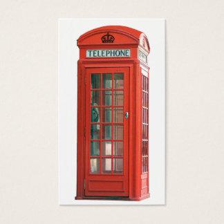 Tarjeta De Visita Cabina de teléfono roja