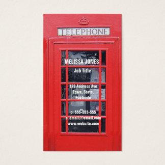 Tarjeta De Visita Cabina de teléfonos roja de Londres