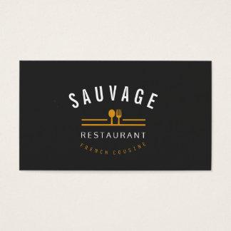 Tarjeta De Visita Café anaranjado del restaurante del abastecimiento