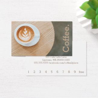 Tarjeta De Visita Café del diseño en el café simple de la lealtad de
