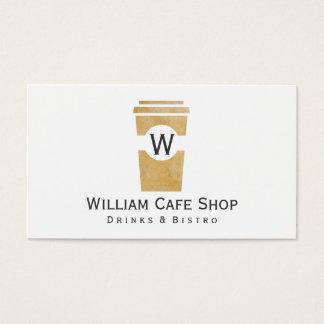Tarjeta De Visita Café el   a ir (textura marrón II)
