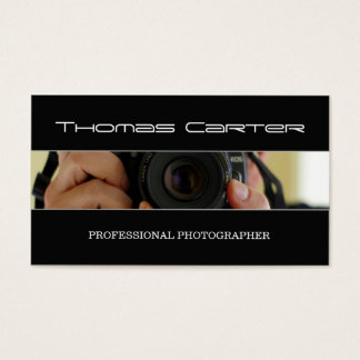 Tarjeta De Visita Cámara profesional del tiro del fotógrafo/de la
