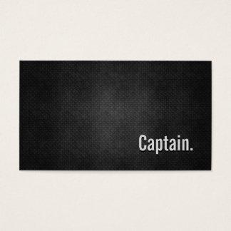Tarjeta De Visita Capitán Cool Black Metal Simplicity