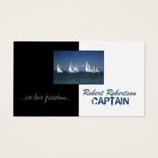 Tarjeta De Visita Capitán Ship Nautical Card del barco de vela