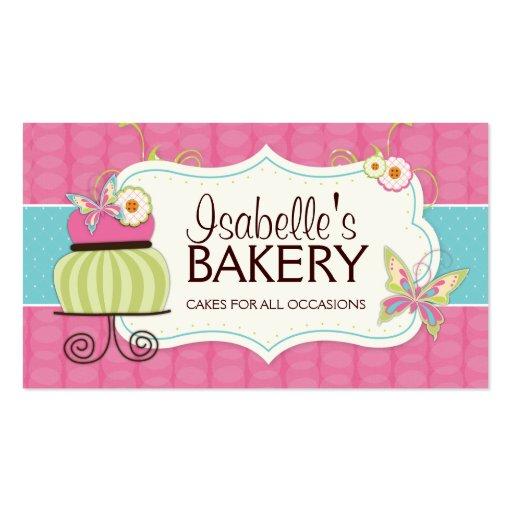 Tarjeta de visita caprichosa de la panadería