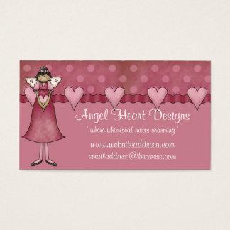 Tarjeta de visita caprichosa:: Diseño del corazón