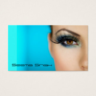 Tarjeta De Visita Cara del artista de los cosméticos del maquillaje
