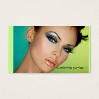Tarjeta De Visita Cara llena de los cosméticos del artista de