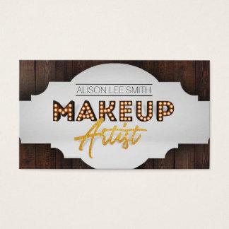 Tarjeta De Visita Carpa del artista de maquillaje