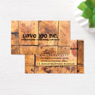 Tarjeta De Visita carpintería de madera de la construcción de la