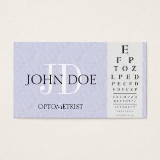 Tarjeta De Visita Carta del optometrista azul clara