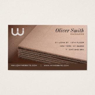 Tarjeta de visita cartón ondulado para cartonniste