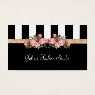 Tarjeta De Visita Casa modelo de costura del estudio de la moda