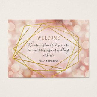 Tarjeta De Visita Casando el lugar agradable carda el rosa