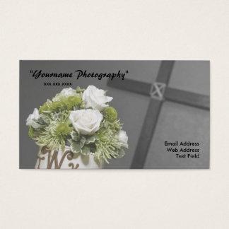 Tarjeta de visita, casando fotografía
