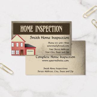 Tarjeta de visita casera del inspector de la