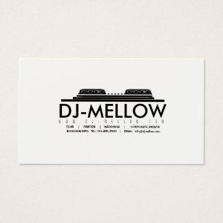 Tarjeta de visita CD de la placa giratoria de DJ