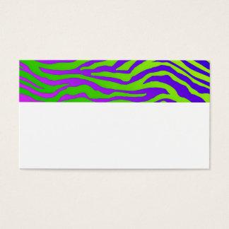 Tarjeta De Visita Cebra verde