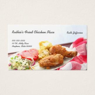 Tarjeta De Visita Cena del pollo frito con el espacio de la copia