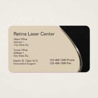 Tarjeta De Visita Centro de cuidado del ojo del laser