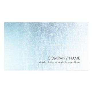 Tarjeta de visita cepillada azul clara moderna de
