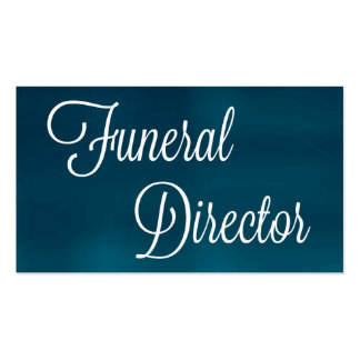 Tarjeta de visita cepillada director de funeraria