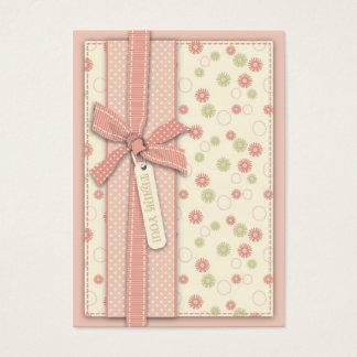 Tarjeta De Visita Chica bonito TY floral Notecard