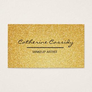 Tarjeta De Visita Chispa bonita del brillo del oro, artista de