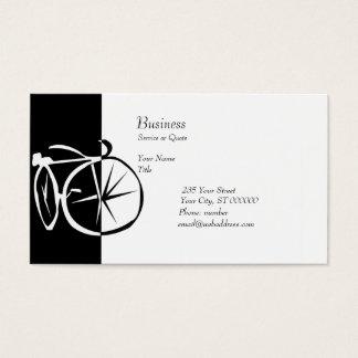 Tarjeta De Visita Ciclo blanco y negro de la bici de la bici