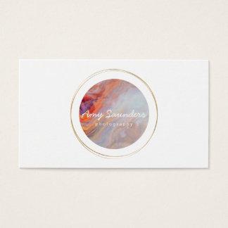 Tarjeta de visita circular del diseño del ópalo de