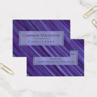 Tarjeta De Visita Ciruelo púrpura indiferente de la lila de la