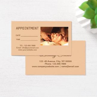 Tarjeta De Visita Cita de la terapia del masaje del Acupressure del