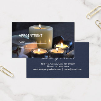Tarjeta De Visita Cita de la terapia del masaje del BALNEARIO del