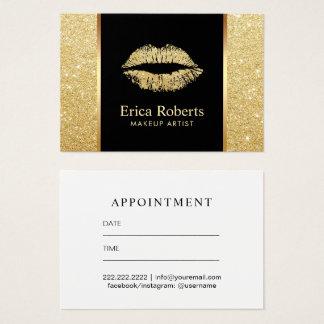 Tarjeta De Visita Cita del artista de maquillaje de los labios del