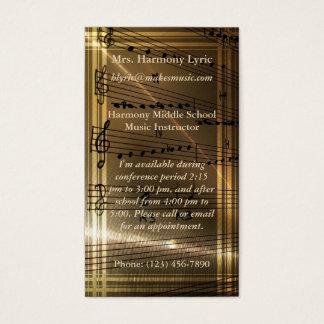 Tarjeta De Visita Cita elegante de Haydn del profesor de música