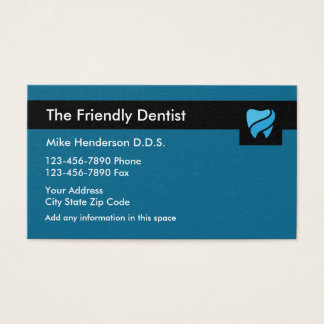 Tarjeta De Visita Cita moderna Businesscard de la odontología